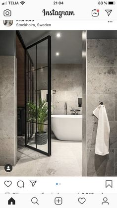 credit Get motivated to design the home of your dreams with our inspiring looks and practical decorating tips. decoration interieur home decoration decoration salon Bad Inspiration, Bathroom Design Inspiration, Modern Bathroom Design, Bathroom Interior Design, Lavabo Design, Relaxing Bathroom, Bathroom Floor Tiles, Dream Bathrooms, Interiores Design