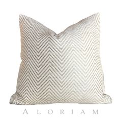 "Kravet Candice Olson Ivory Cream Beige Herringbone Chevron Zig Zag Pillow Cover, Fits 12x18 14x20 16x26 16"" 18"" 20"" 22"" 24"" Cushions by Aloriam on Etsy https://www.etsy.com/listing/238620882/kravet-candice-olson-ivory-cream-beige"