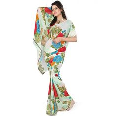 Good-looking Multicolor Color Heavy Georgette Printed Saree at just Rs.480/- on www.vendorvilla.com. Cash on Delivery, Easy Returns, Lowest Price.