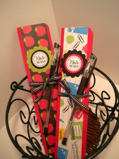 Craft Fabulous: DIY Skinny Note Pads - Stocking Stuffers