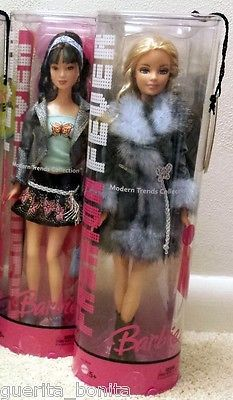 2005 Fashion Fever Lot Barbie Fur Coat Lea Asian Modern Trends J1362 New | eBay