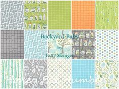 backyard baby patty sloniger fat quarter | Backyard Baby