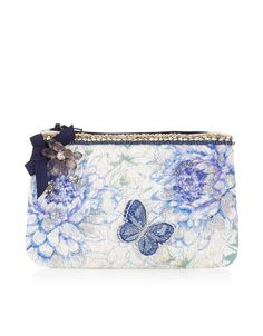 3D Buttefly and Flower Zip Top Purse | Multi | Accessorize