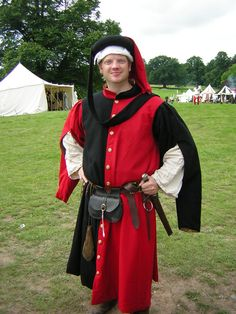 15th Century Gown and Chaperon from Cloak'd & Dagger'd