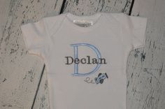 Custom Personalized infant Bodysuit with Plane by theroyalprincess