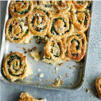 Spinach Feta and Pine Nut Buns