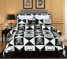 boy bedspreads and comforters | ... Cool Teen Boy Bedding for Your Son » Skull Patterned Teen Boy Bedding