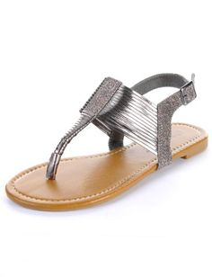 Metallic Thong Sandals « ShoeAdd.com – More Shoes For You Every Day