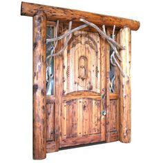 Log Home Doors For your lodge ❤ liked on Polyvore featuring doors and cabin