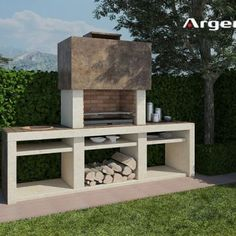 Ideas Patio Fireplace Grill Brick Bbq For 2019 Brick Grill, Patio Grill, Backyard Patio, Argentinian Bbq, Parrilla Exterior, Built In Braai, Bbq Places, Barbecue Design, Outdoor Barbeque
