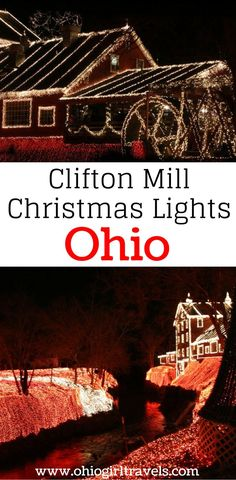 If you're looking for somewhere to see Christmas lights near Columbus, Ohio, you have to check out the Clifton Mill Christmas lights. They feature millions of lights, a light show, and music playing as you walk through the display. It is perfect for peopl