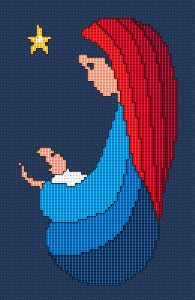 Nativity scene free cross stitch pattern