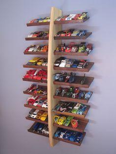 Hotwheels Display Shelf..... at kid level so Zaida can put her cars up