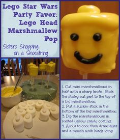 Lego Star Wars Birthday Party: Homemade Party Favor Ideas - Sisters Shopping on a Shoestring