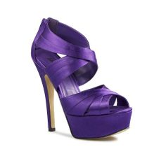 purple shoes...they would be better if they were a little smaller heel!!