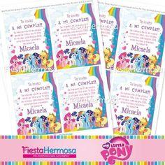 Kit Imprimible My Little Pony, Tarjetas, Candy Bar, Cajitas