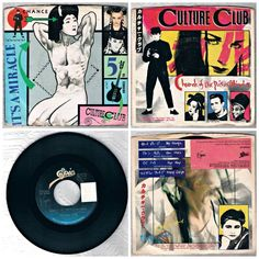 2 Culture Club 45 RPM Records Poison Mind Its A Miracle 1983 1984