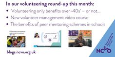 Volunteering Round-up: August 2016 Volunteer Management, News, School, Blog, Blogging