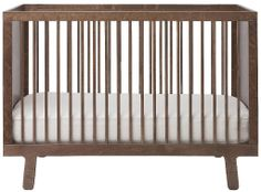Oeuf Sparrow Crib Walnut - Best Price  #DiaperscomNursery