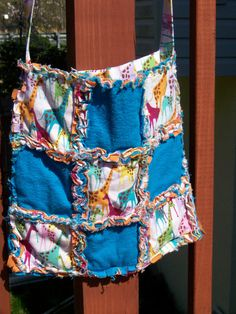 Quilted Rag Giraffe Purse by pickingwildflowers3 on Etsy, $15.00