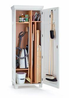 Broom cupboard beech wood - -