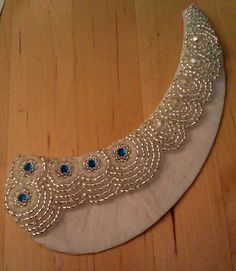 Hollybird Beads: A Beady DIY Fashion Project - Embroidered Peter Pan Collar