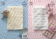 Free Knitting Baby Blanket Patterns   3506   Knitting Patterns   Baby Blankets   King Cole Ltd