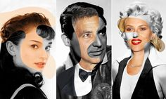 Face it... some things never change: Artist mashes up photos of current movie stars with yesteryear's silver screen celebrities to show how ...