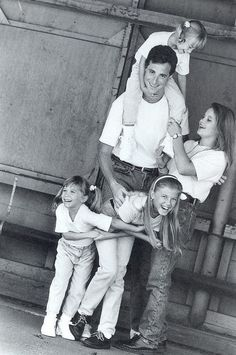 Full House, Olsson twins, photo, black and white, celeb, famous, tv, show, love, kærlighed, family