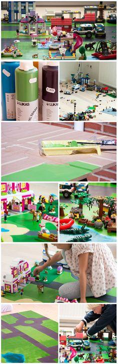 Lego underlag - lego playmat DIY - Valdemarsro.dk
