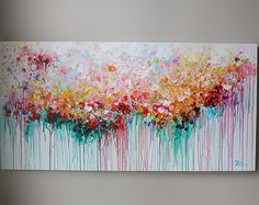 60x30 large painting,modean ,Acrylic ,beautiful large abstract flower painting, Colorful painting