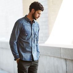A #menswear Staple: The #denim Shirt. #chimala #tapforcredits By Eastdane
