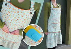 Apron tut. from Sew4home using fig tree fabrics