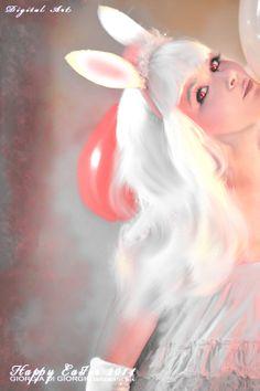 "Fantasy thinking - Happy Easter ""Bunny"" artwork by Giorgia Di Giorgio"