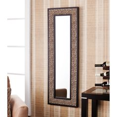 The leopard finish is textured faux leather and contrasts beautifully with the black inner and outer frames. This dazzling mirror can be hung horizontally or vertically. This animal print mirror adds fun flare to the living room, bedroom, or entryway. Cheetah Print Bedroom, Leopard Print Bathroom, Safari Bedroom, Leopard Wall, Animal Print Furniture, Animal Print Rooms, Animal Print Decor, Animal Prints, Leopard Home Decor