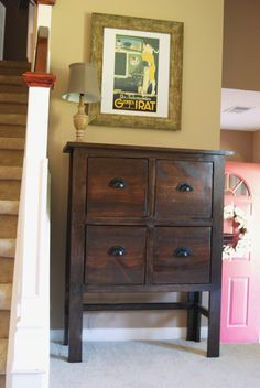 beautiful diy short hall table - Ana White | Balin console table modification - DIY Projects