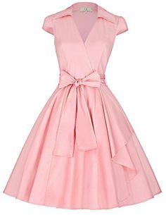 GRACE KARIN Women's Cap Sleeve Swing Vintage Party Dresses JS6087 http://www.artydress.com/grace-karin-womens-cap-sleeve-swing-vintage-party-dresses-js6087/