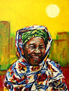 Moh-Mariko. Painting in oils on linen by Simon Birtall. Made for an art auction in aid of Oxfam, from photographs supplied by event organisers Oxjam Heswall.