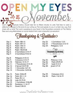 Scripture writing | November | Thanksgiving and Gratitude