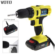Voto Ac 100-240v Cordless 16.8v Electric Screwdriver With Li-ion Battery And Two-speed Adjustment Button For Handling Screws Modern Techniques Power Tools Tools