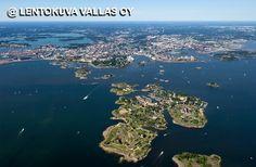 Helsinki korkealta kuvattuna Ilmakuva: Lentokuva Vallas Oy
