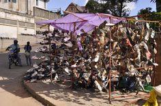 Hochland Fianarantsoa Schuh-Marktstand