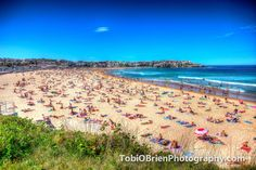A busy Bondi Beach on a sunny day.  #hdr #photography #photographersonpinterest #hdr photography