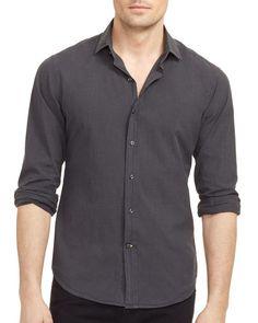 Ralph Lauren Black Label Plaid Dobby Sloan Slim Fit Shirt