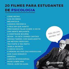 Ver esta foto do Instagram de @sou_psicologo_comuitorgulho • 1,273 curtidas Cinema Movies, Film Movie, Experiment, Psychological Help, Psychiatry, Movie List, Way Of Life, Study Tips, Movies And Tv Shows