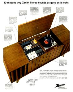 Zenith cabinet stereo.