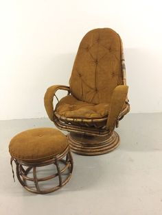 pumped on this redmoonvintage rattan swivel chair there s no