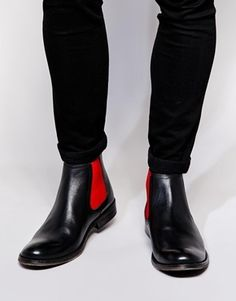 Black Leather Chelsea Boots by Asos. Buy for $113 from Asos