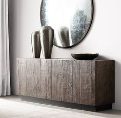 Get Inspired by these Sideboards and Buffets decoration ideas! Home Living Room, Living Room Decor, Dining Room Console, Furniture Vanity, Furniture Design, Interior Decorating, Interior Design, Home Hardware, Entryway Decor
