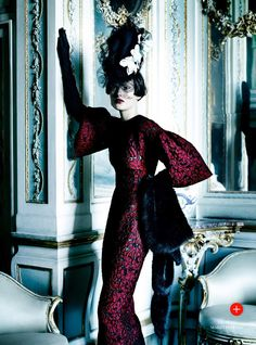 Catherine McNeil Is 'Prima Donna', Lensed By Mario Testino For Vogue UK September 2013 - in Dolce Ganbana fall winter 2013